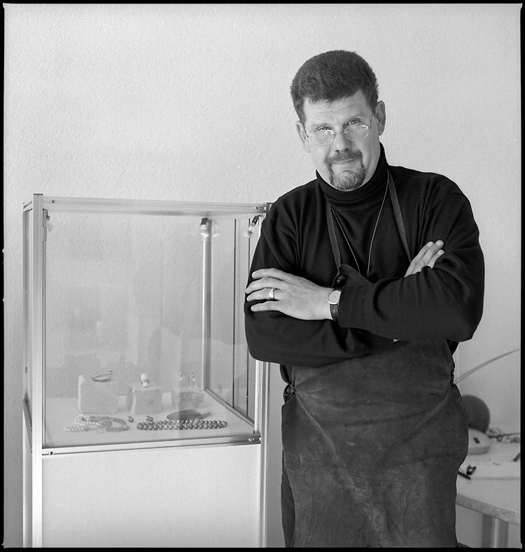 Peter Güther im Atelier